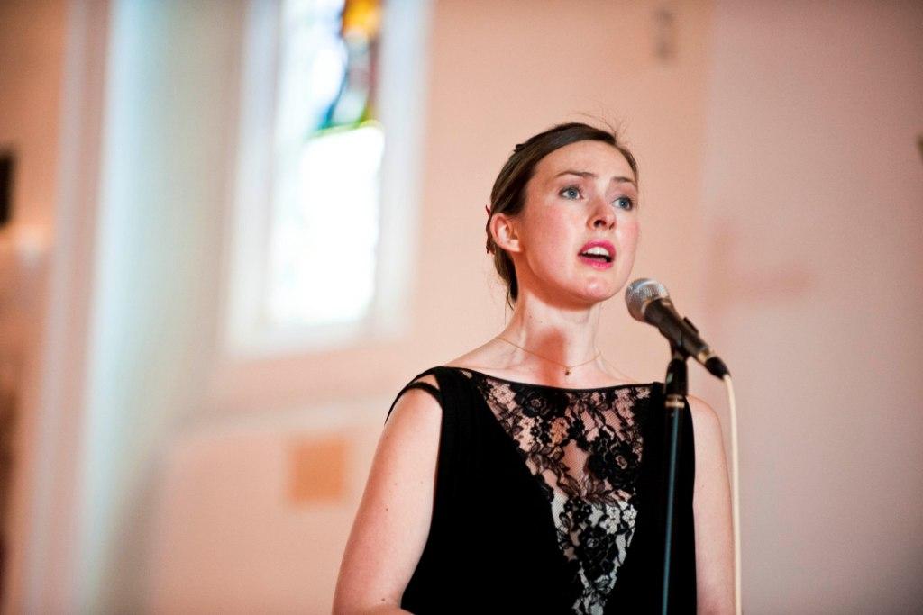 Singing at the wedding of my life-long friend