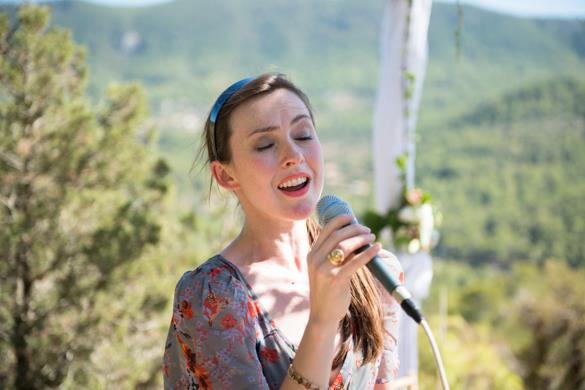 Singing in Ibiza